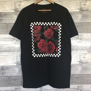 NEW Roses and Checks Tee